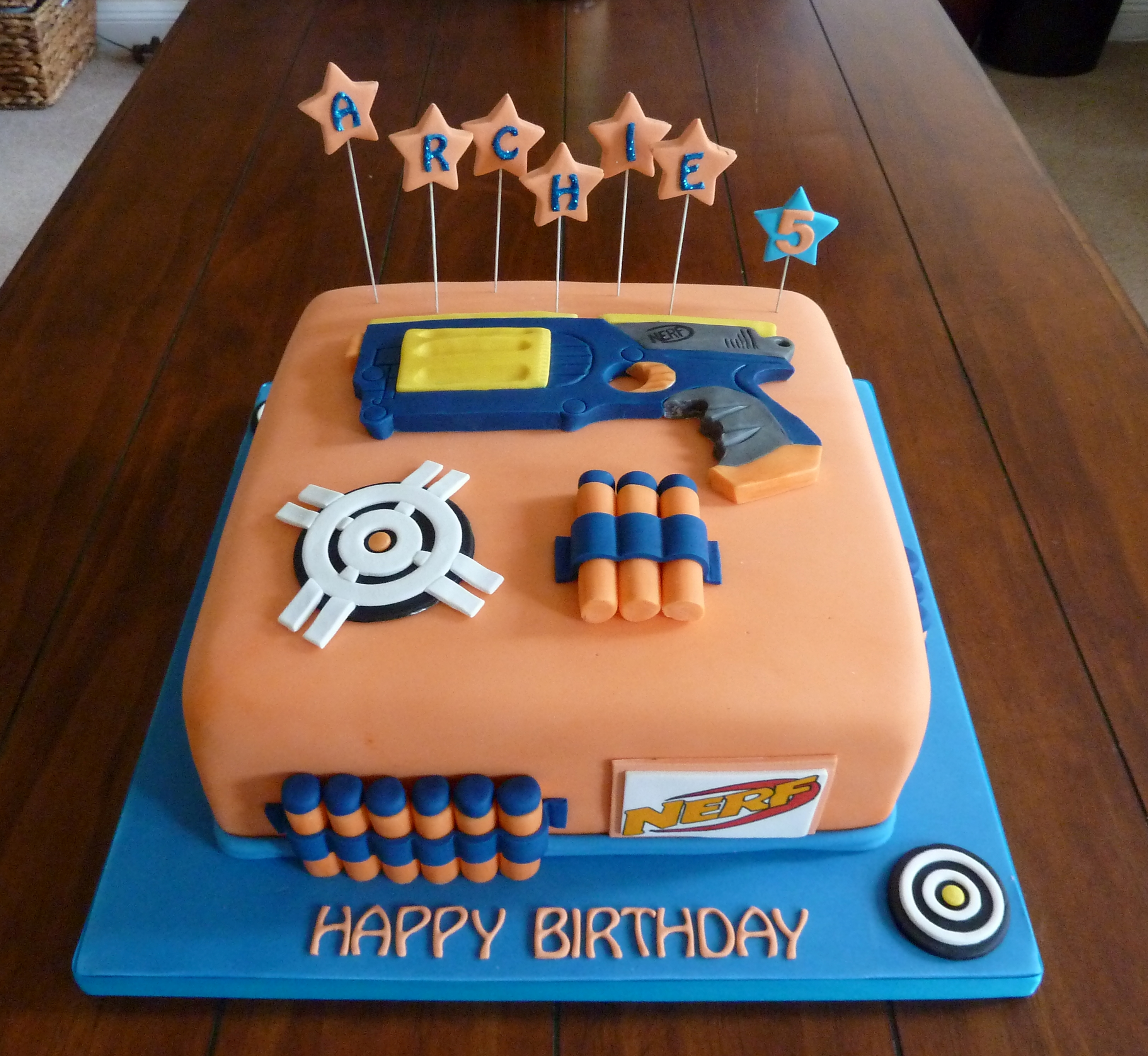 Best Cake Decorating Gun : Coolest Nerf Gun Cake Ideas and Designs